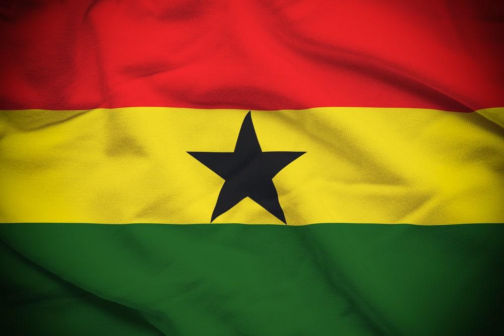 The Ghanaian flag