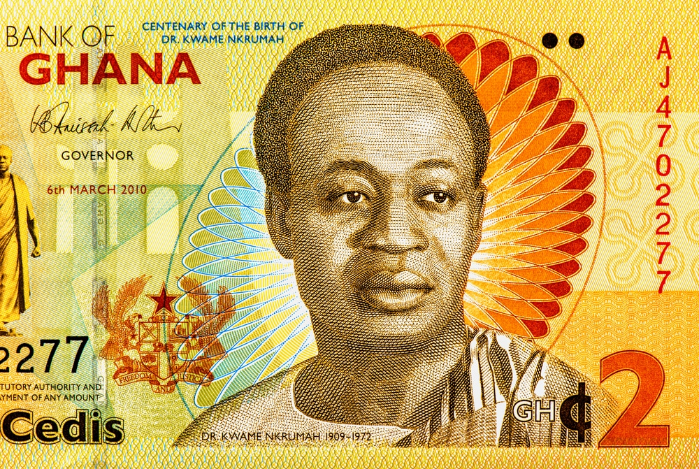 Kwame Nkrumah on a Ghanaian bank note