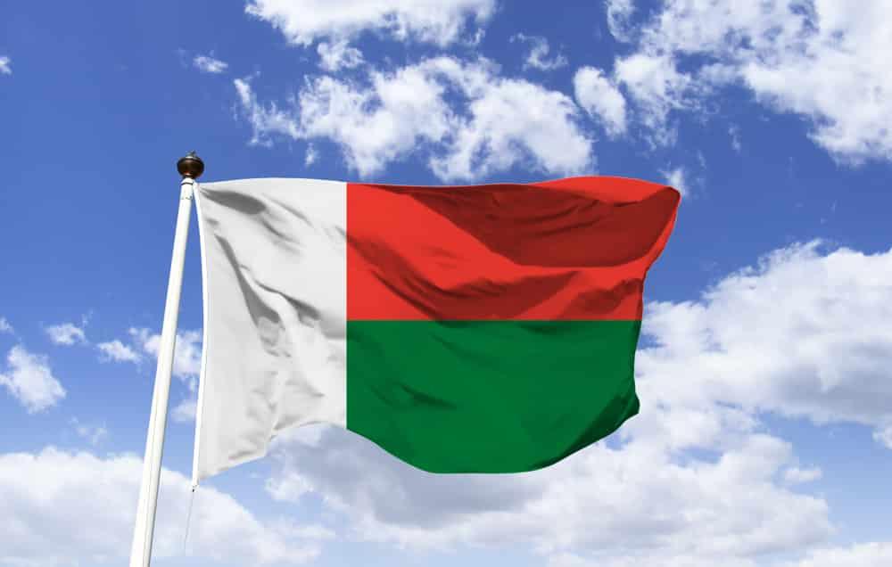 The flag of Madagascar