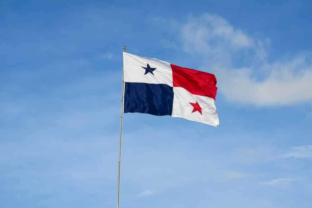 The flag of Panama