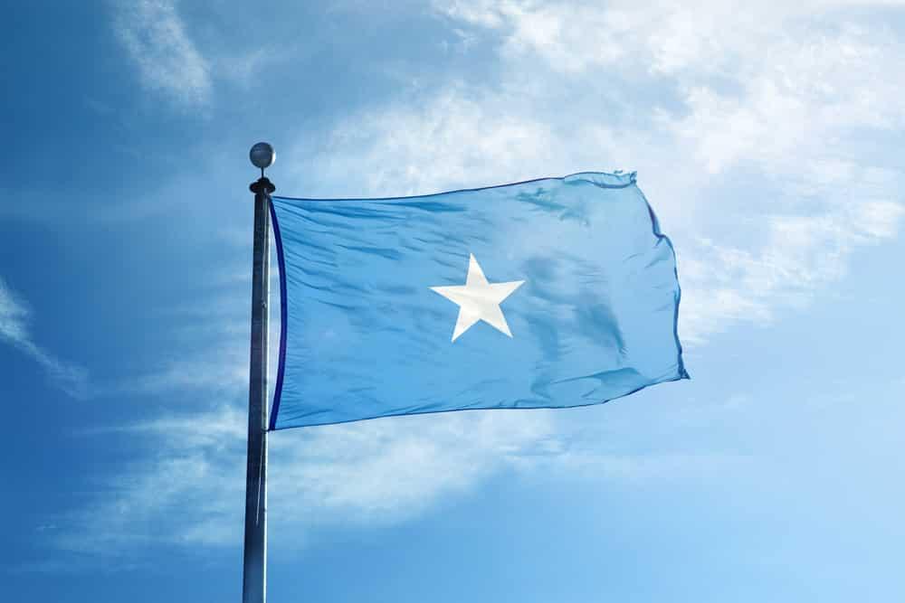 The Somali flag
