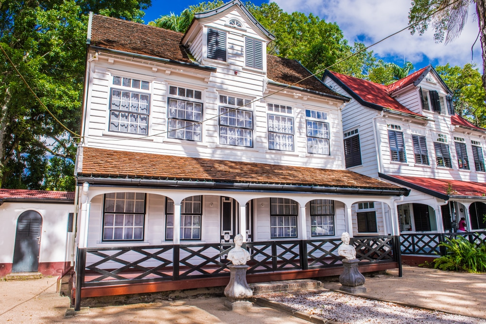 Historic buildings in Paramaribo