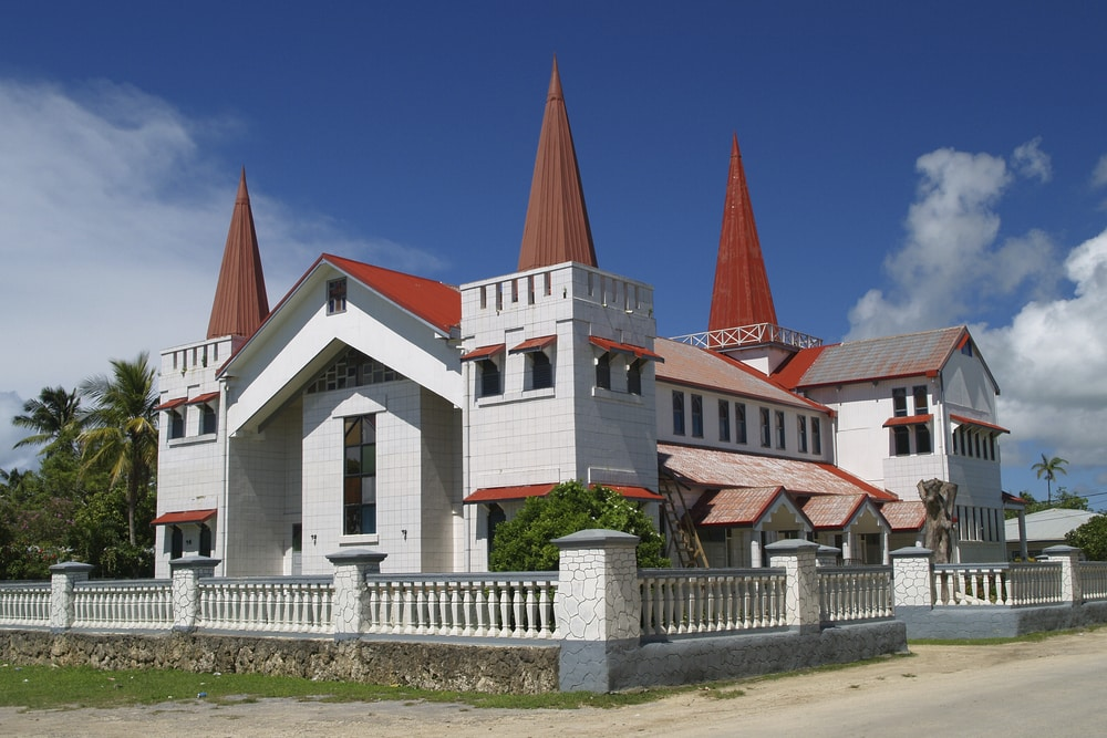 A church in Tonga