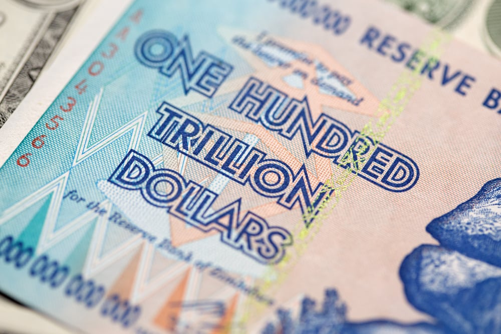 One hundred trillion dollars bank note