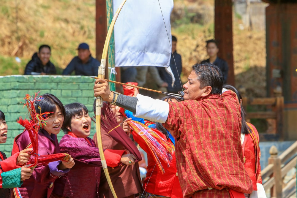 Bhutanese archers