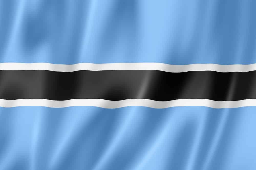 The Botswana flag