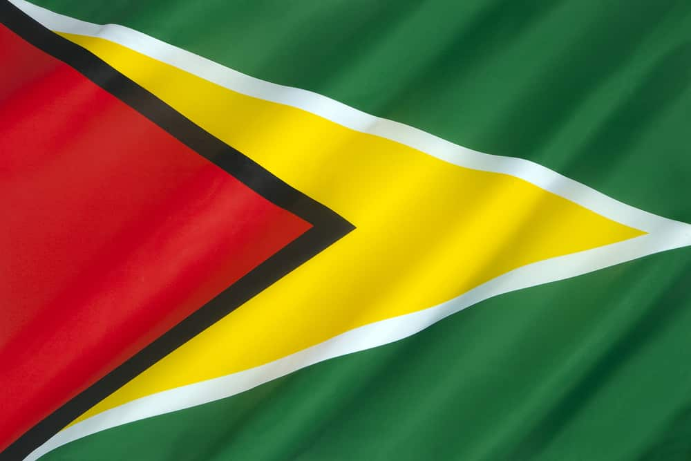 facts about Guyana – the Golden Arrowhead flag