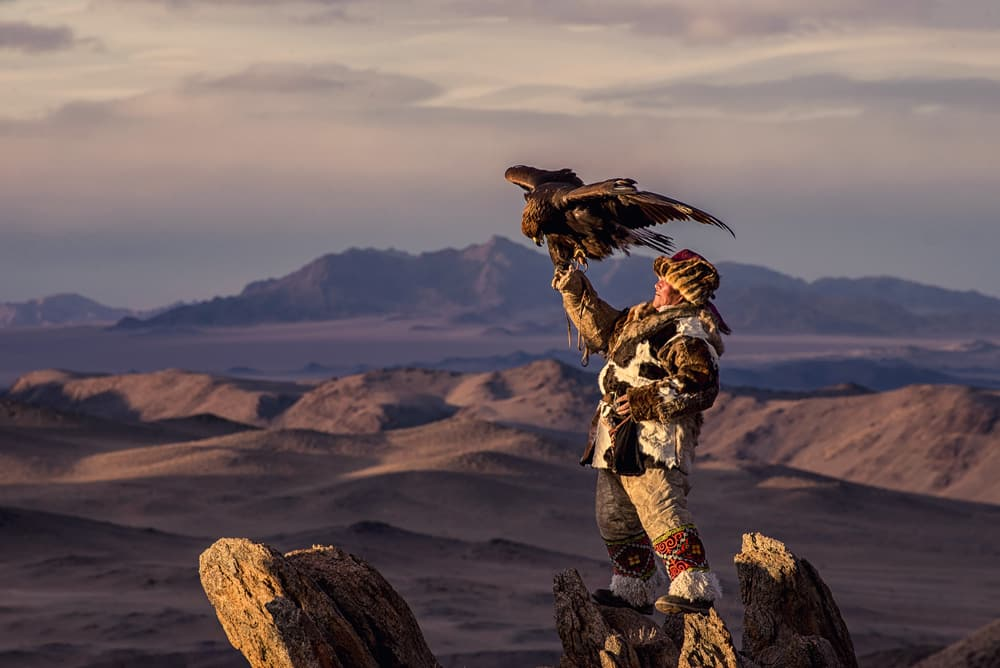 A eagle hunter in Kyrgyzstan