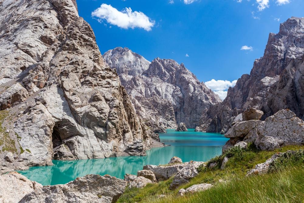 A mountain lake in Kyrgyzstan