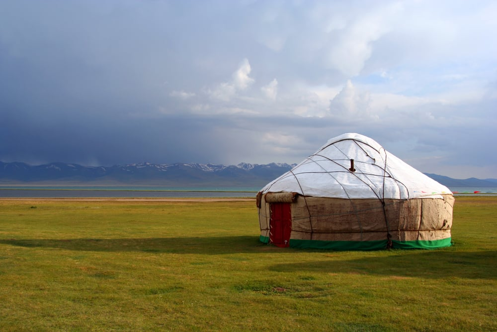A typical yurt