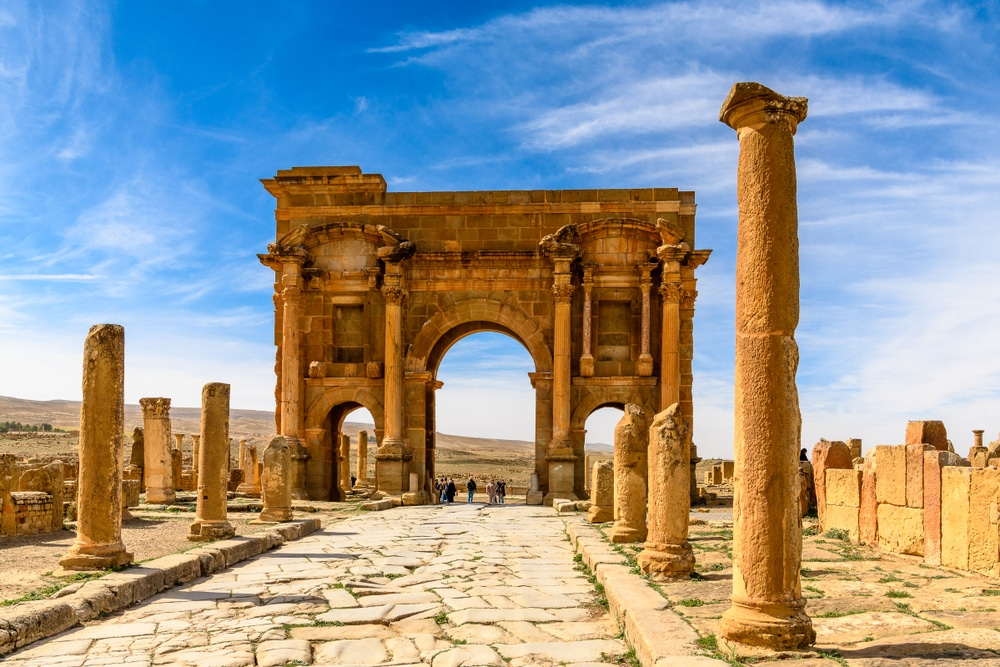 interesting facts about algeria Arch of Timgad