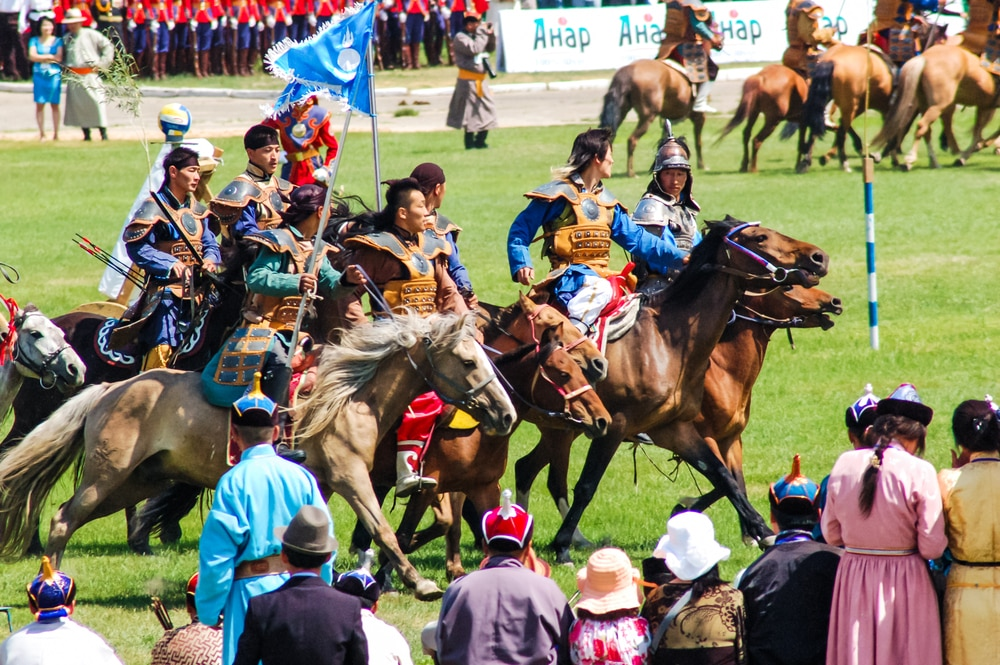 The Nadaam festival in Mongolia