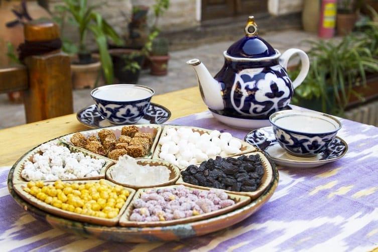 A tea tray in Uzbekistan
