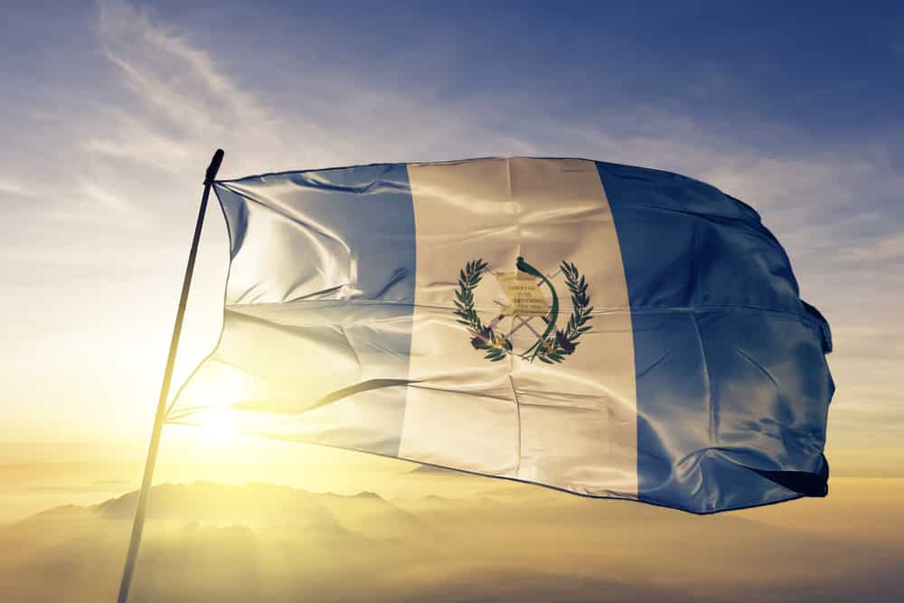 The Guatemalan flag and coat of arm