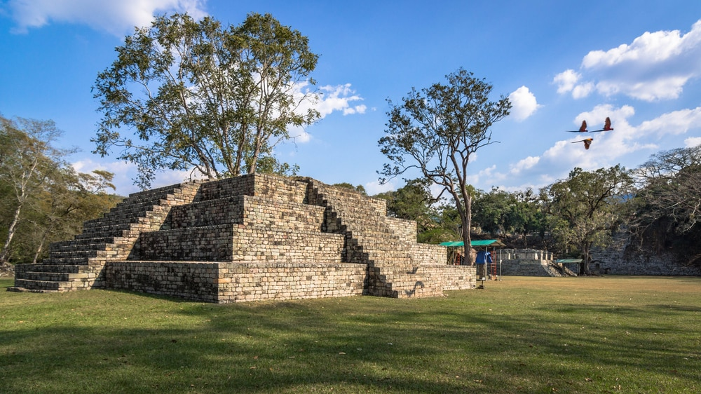 The ruined city of Copán