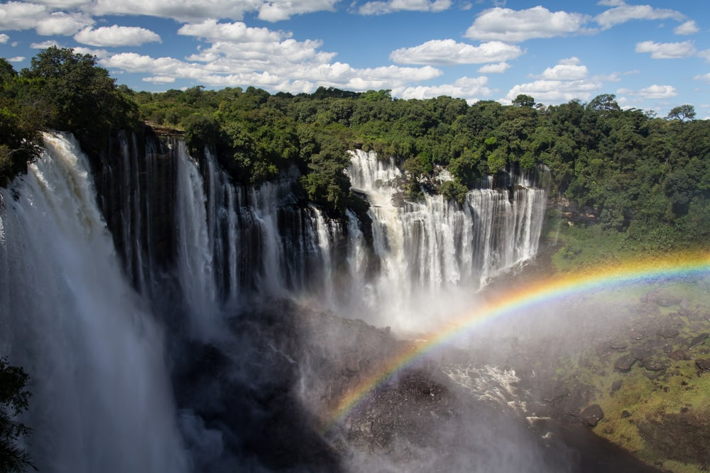 Interesting facts about Angola include the magnificent Kalandula Falls (Shutterstock)