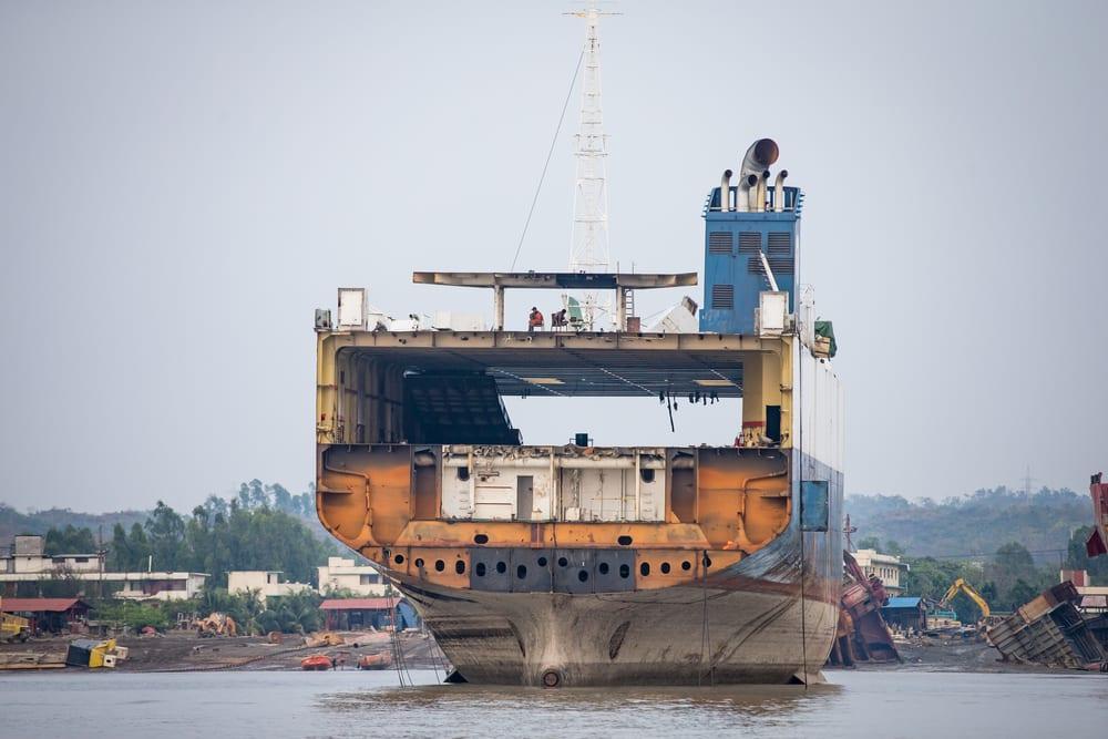 The Chittagong shipbreaking yard