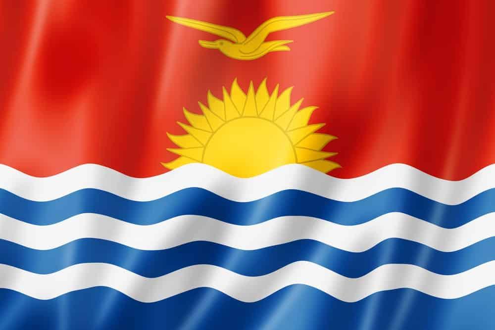 The flag of Kiribati
