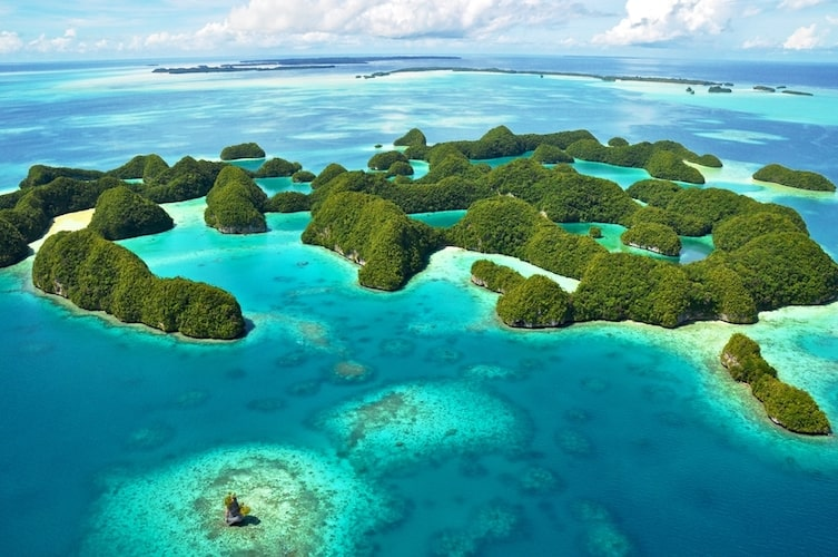 Interesting facts about Palau include the spectacular Rock Islands