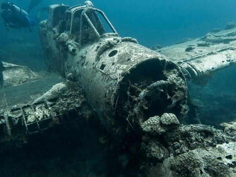 A Second World War plane wreck