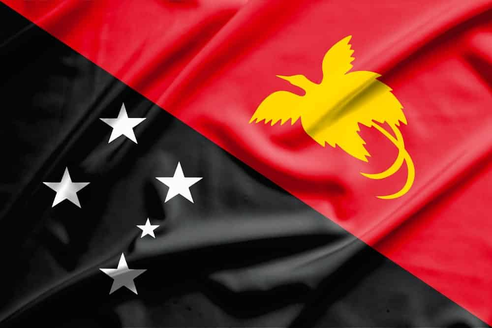The flag of Papua New Guinea