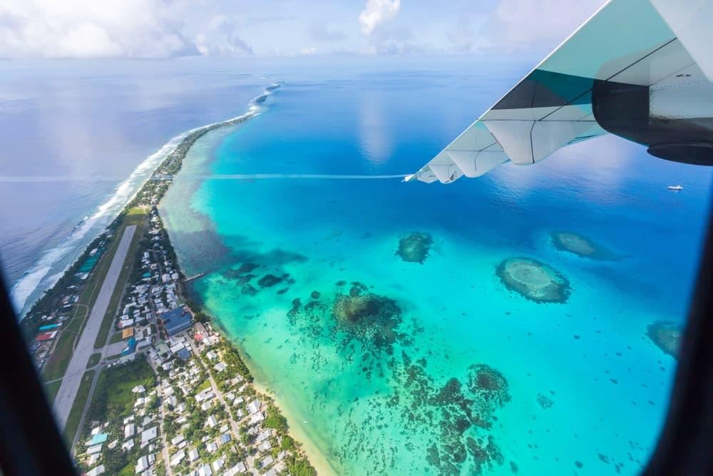 The view of Funafuti International Airport