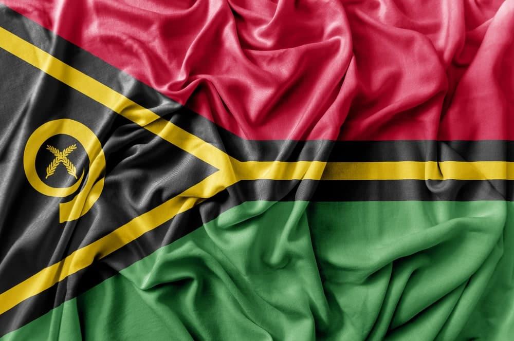 The flag of Vanuatu
