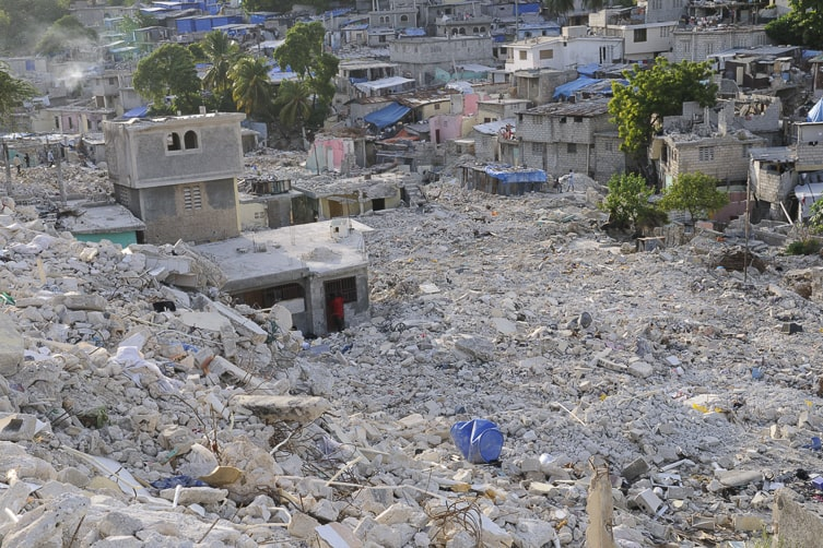 Port-au-Prince after the earthquake