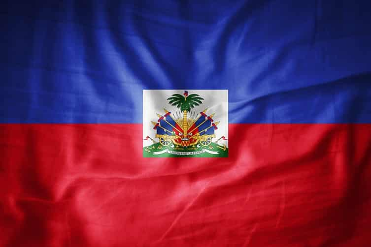 The flag of Haiti