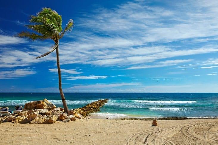 A Caribbean beach in Haiti