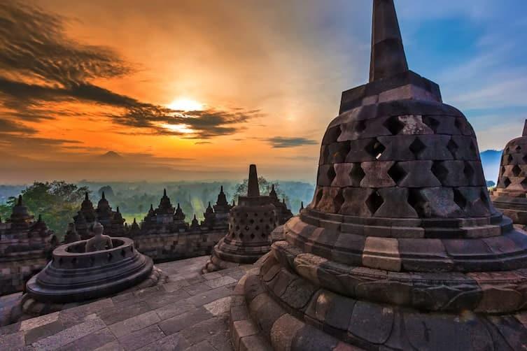 The UNESCO World Heritage Site of Borobudur in Indonesia