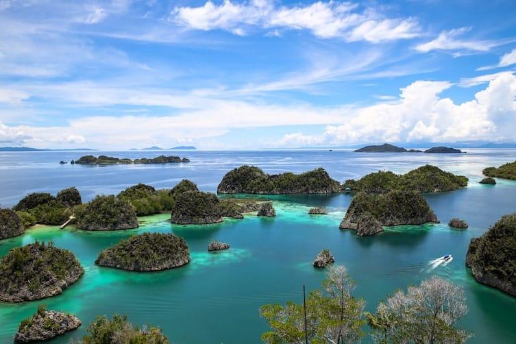 The islands of Raja Ampat in Indonesia