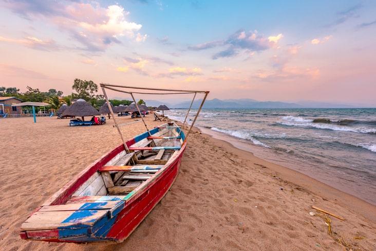 Lake Tanganyika In Burundi