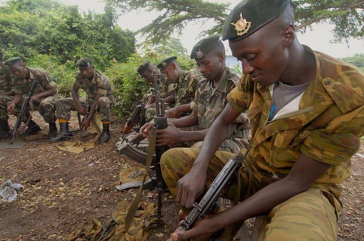 Burundian peacekeepers in 2006