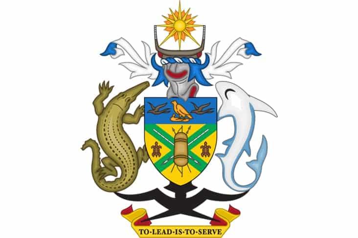 The Solomon Islands coat of arms