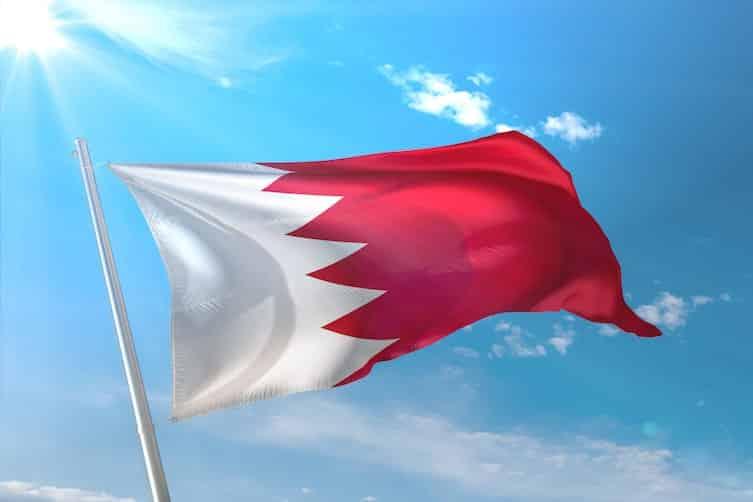 The flag of Bahrain