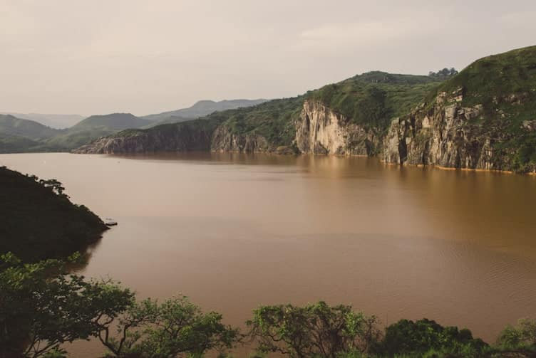 The poisonous Lake Nyos in Cameroon