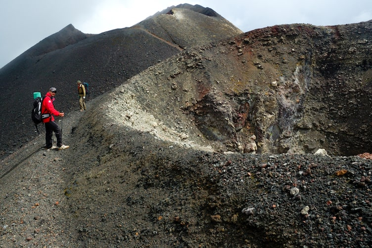 Hikers on Mount Cameroon