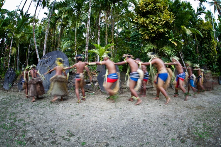Traditional dancers on the island of Yap