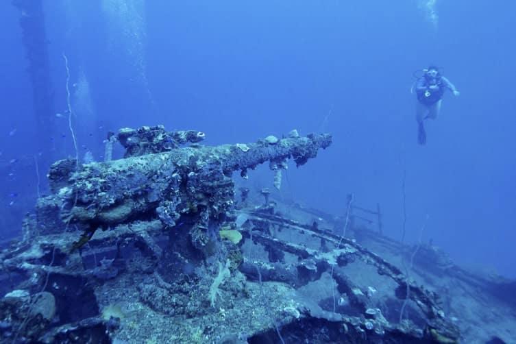 A shipwreck in Micronesia