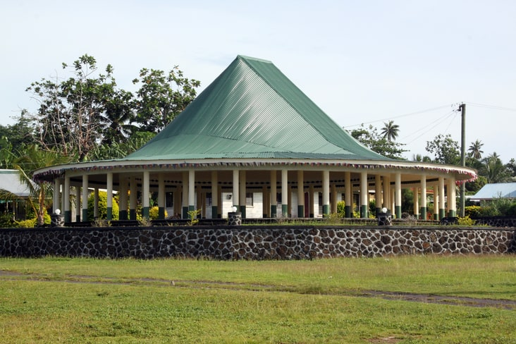 Samoan houses known as fales
