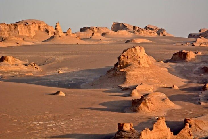The Lut Desert in Iran