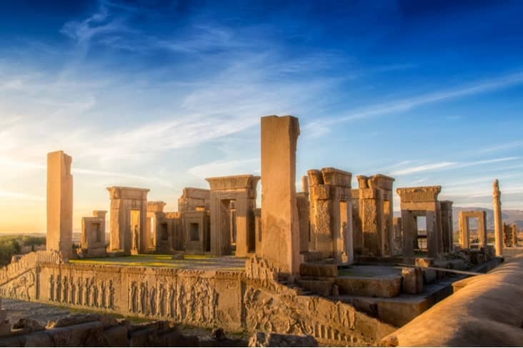 The ruined city of Persepolis