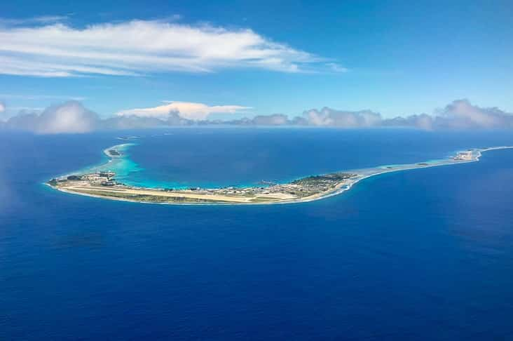 An atoll in the Marshall Islands