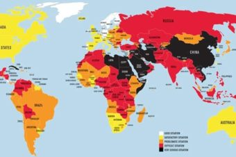 Countries ranked by freedom of press