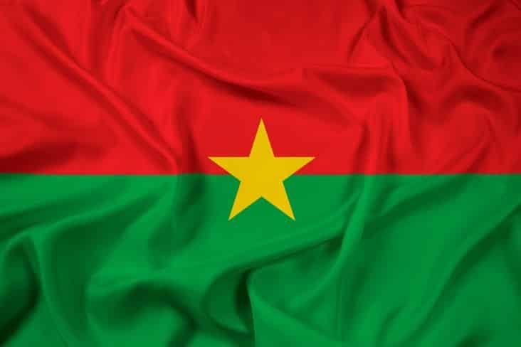 The flag of Burkina Faso