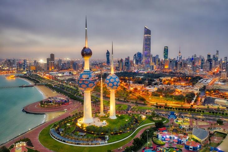 Kuwait City and the Kuwait Towers
