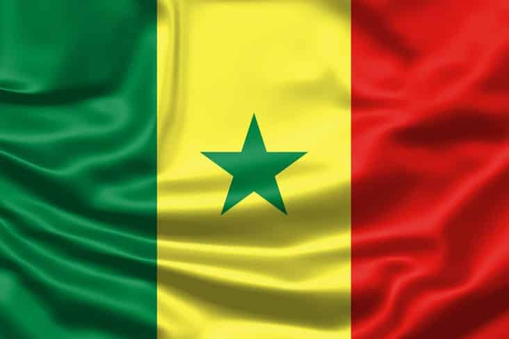 The flag of Senegal