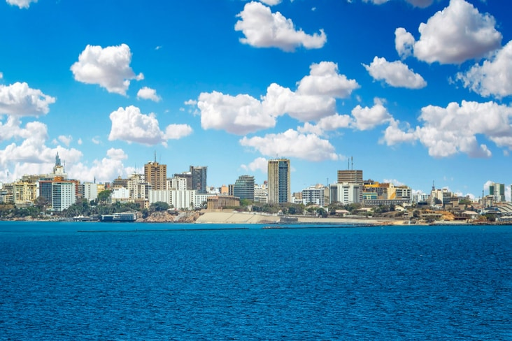 Dakar seen from Atlantic Ocean