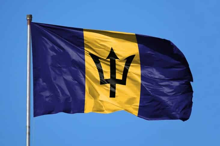 The flag of Barbados